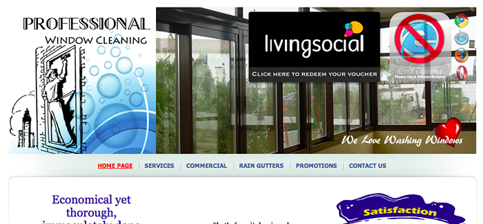 Officially registered as <b>WeLoveWashingWindows </b> (WLWW) - Residential Services throughout most of Alameda & Contra Costa counties - Introduced a commercial line for small retail businesses - Featured deal in LivingSocial