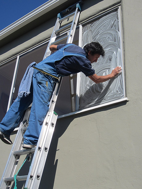 We look for and clean spider webs, dirty frames/sills, paint and/or other construction residue (additional fees may apply).